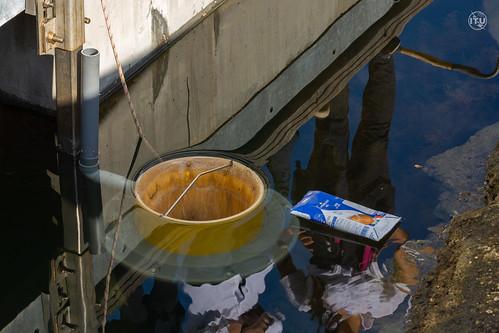 海洋垃圾清理計畫:海洋垃圾桶seabin示意圖(圖片來源:ITU)