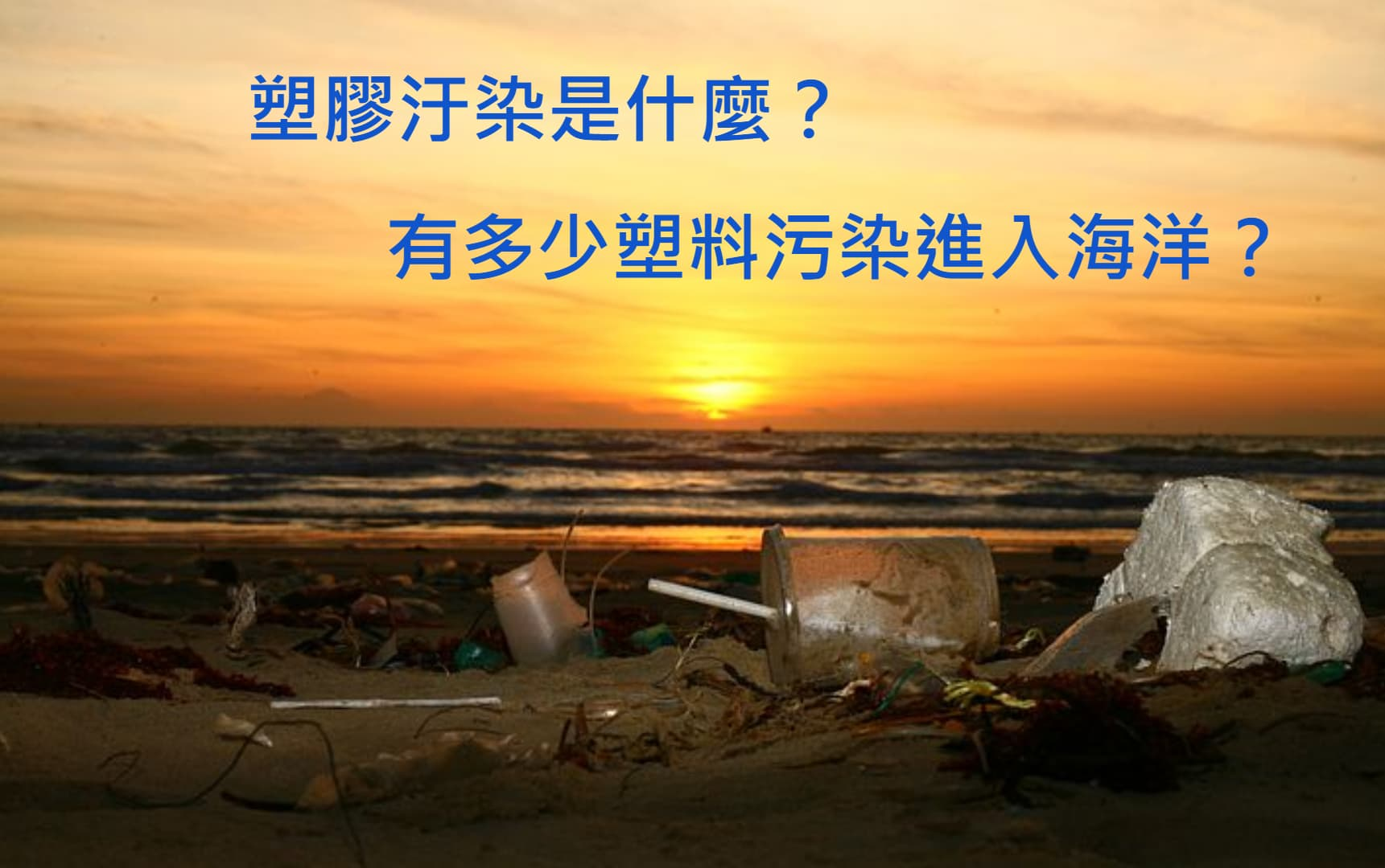 塑膠汙染是什麼?有多少塑膠污染進入海洋?