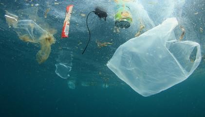 海洋垃圾示意圖